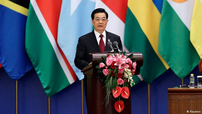 Hu Jintao at the Forum on China-Africa Cooperation in Beijing