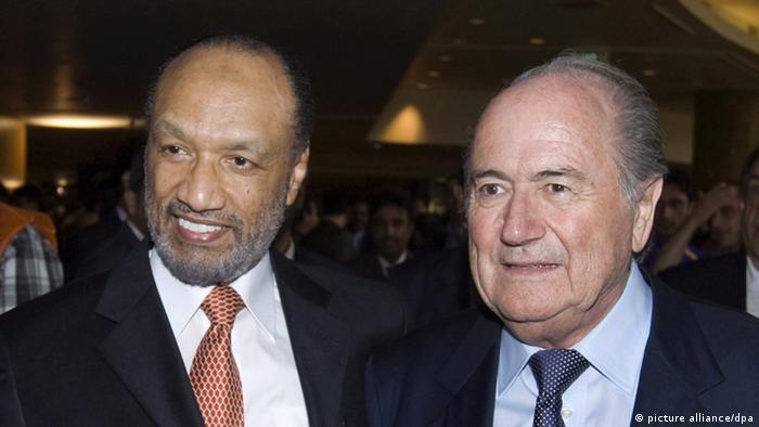 Mohamed Bin Hammam (left), with Joseph Blatter