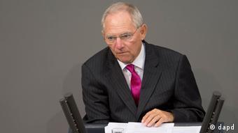Woflgang Schäuble, ministro alemán de Finanzas.