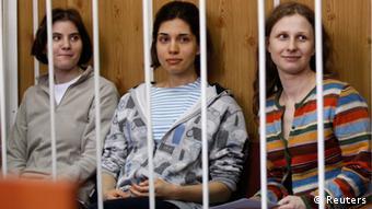 Участницы Pussy Riot в московским суде (фото из архива)