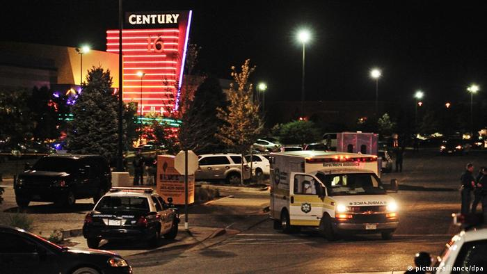 Aurora, Colorado, 2012, a gunman opened fire during a movie screening (picture-alliance/dpa)