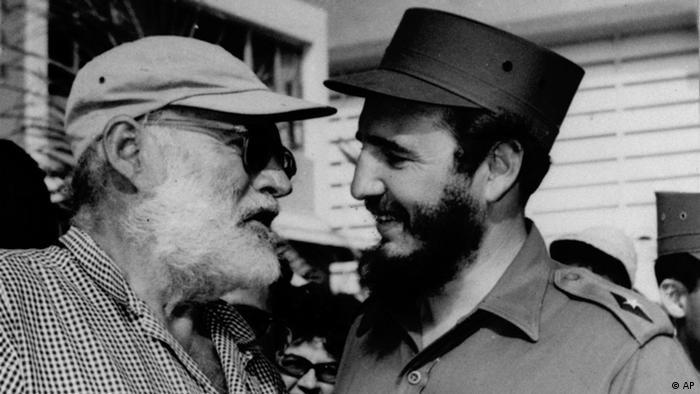Фидель Кастро и Эрнест Хемингуэй