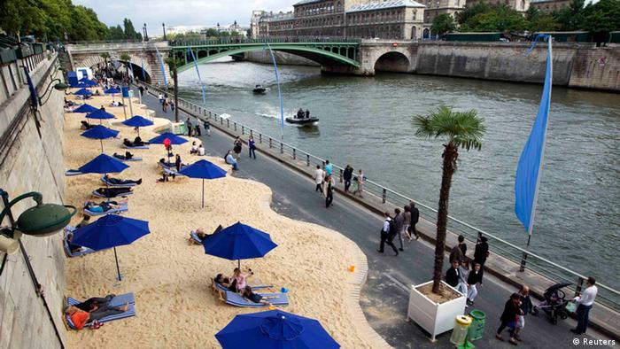 Paris Plages Strand Paris Frankreich