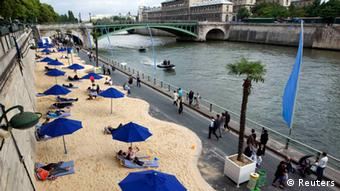 Paris Plages Strand Paris Frankreich