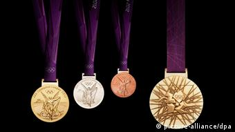 Медали, которые будут вручатся победителям и призерам лондонской Олимпиады
