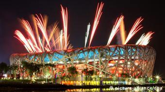 Olympischen Sommerspiele Peking 2008 Feuerwerk