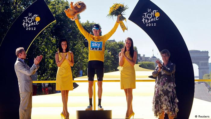 Tour de France 20. Etappe Bradley Wiggins Siegerpodest