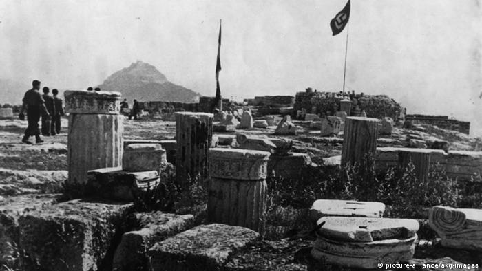 Griechenland Hakenkreuzfahne Akropolis 1941