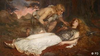 Charles Ernest Butler's 1909 painting of Siegfried and Brunnhilde from the Nibelung saga