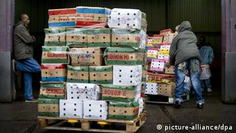 Boxes filled with khat are traded in The Netherlands