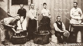 Italian ice cream makers in the 1800s
