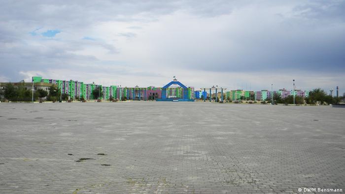 Der zentrale Platz von Schanaozen, Kasachstan (Foto: Marcus Bensmann, DW)