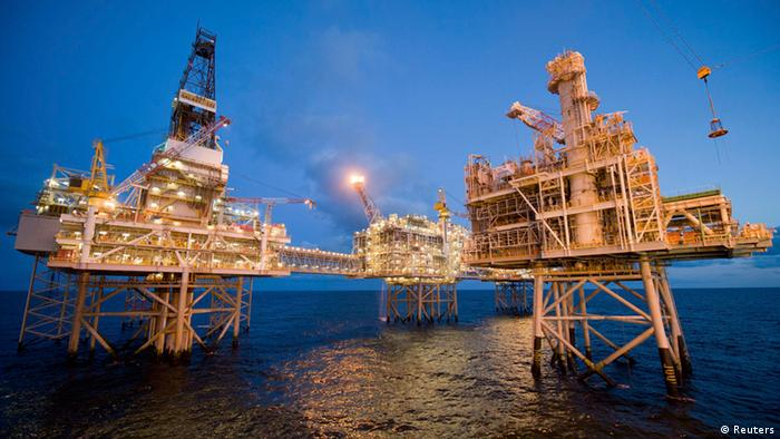 Nexen Ölplattform in der Nordsee