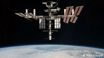 Internationale Raumstation ISS NASA angekoppelter Space Shuttle
