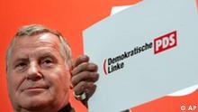 Der PDS Vorsitzende Lothar Bisky