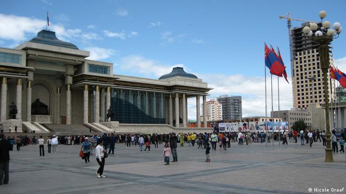 Одна из площадей Улан-Батора