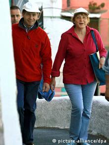 Ангела Меркель с супругом в отпуске