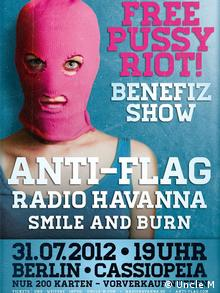 Ad for the benefit gig in Berlin