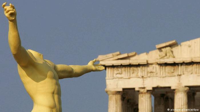 Griechenland Tempel ohne Kopf