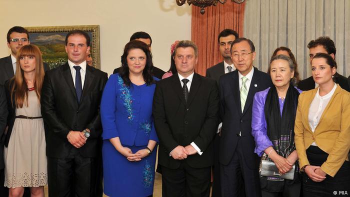 Ban Ki-moon in Mazedonien