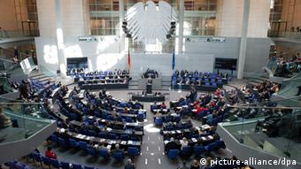An interior view of the Bundestag