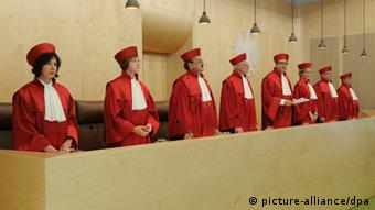 The judges in court