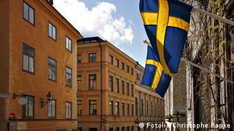 Swedish flag in Stockholm(Fotolia: #20837780); © Fotolia/Christophe Papke