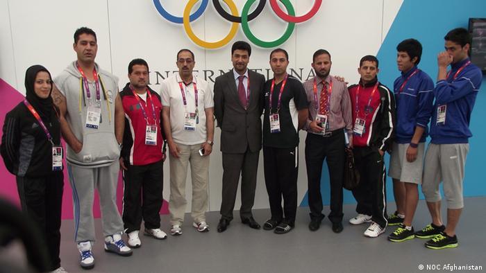 Afghanische Delegation bei den Olympischen Spielen in London (Foto: NOC Afghanistan)