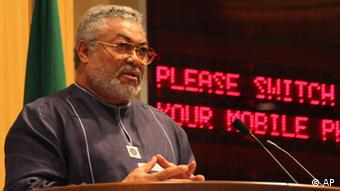 Former Ghanaian president Jerry Rawlings Photo/Elias Asmare)