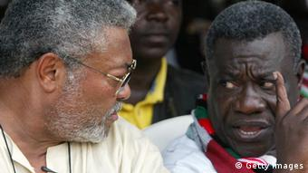 Ghana John Atta Mills und Jerry Rawlings (Getty Images)