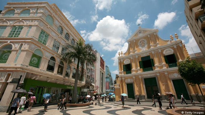 China Macao Hauptstraße Largo do Senado Platz (Getty Images)