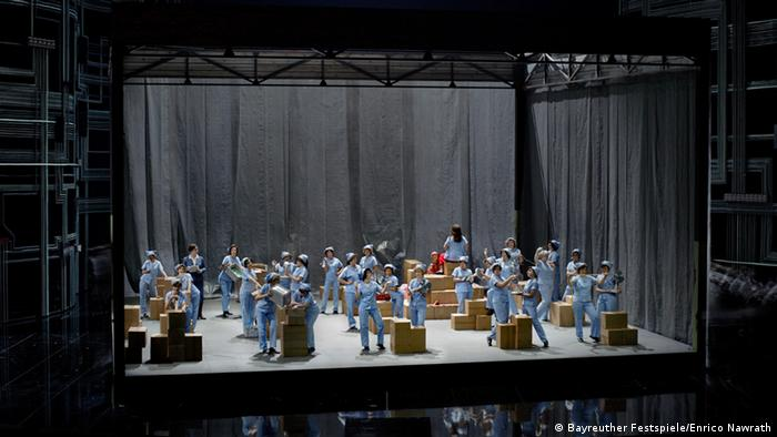 A scene from the Dutchman production in Bayreuth