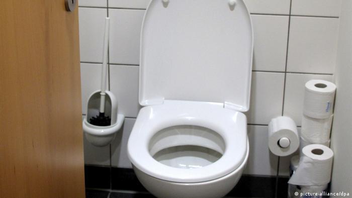 Toilette Toilettenschüssel Symbolbild