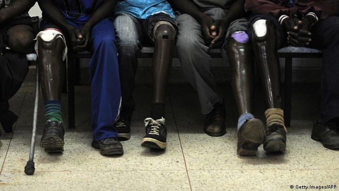 Armut in Angola Huambo Landminenopfer