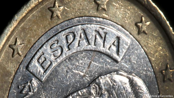 A Spanish euro coin (picture: dpa)
