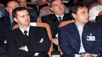 Башар Асад и генерал Манаф Тлас, позднее бежавший в Турцию