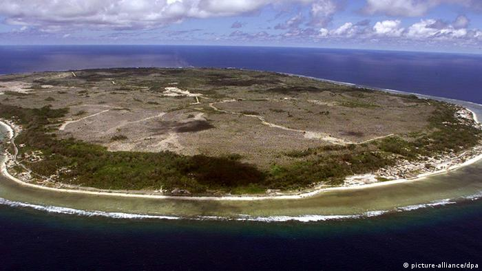 View of Nauru from the air