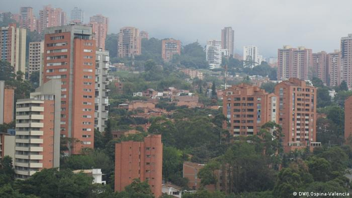 Tower blocks in Medellin