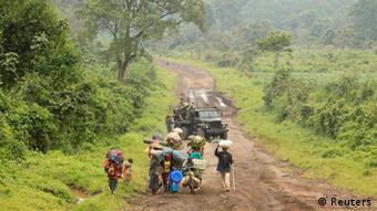 Famillies fleeing renewed fighting in eastern DRC. Photo: REUTERS/James Akena