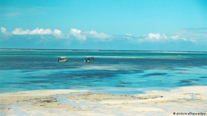 A beach resort in Kenya