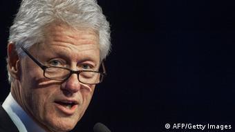 Former US President Bill Clinton speaking at the AIDS 2012 Conference