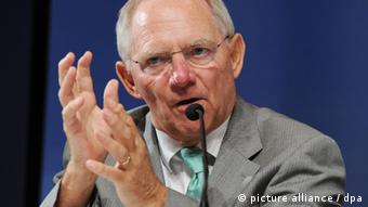 Wolfgang Schäuble, Germany's Finance Minister