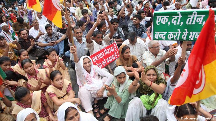 Proteste Neu Delhi Indien