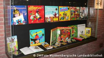 A display of Hotzenplotz books for its 50th anniversary