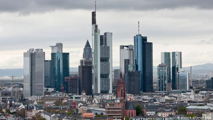 A view of the financial sector in Frankfurt am Main.