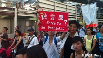 Proteste gegen Patriotismus-Erziehung
