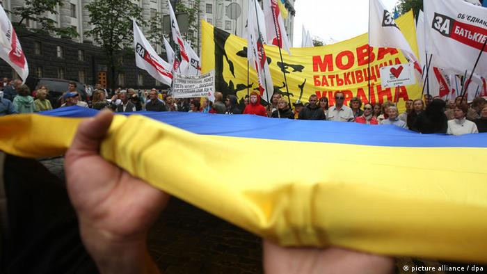 Акция протеста против принятия в Украине закона о региональных языках, июнь 2012 года