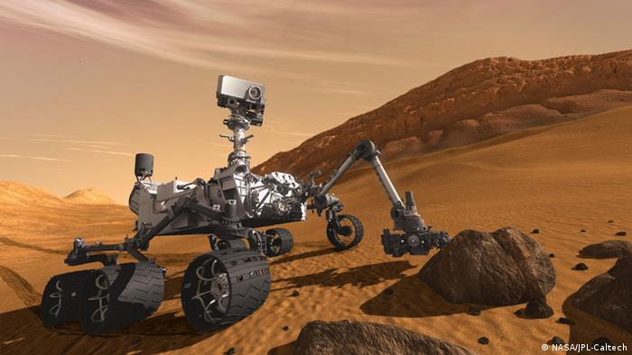 This artist concept features NASA's Mars Science Laboratory Curiosity rover (Image credit: NASA/JPL-Caltech)