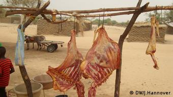 Carcasses drying in the sun in Kokorou, Niger. Picture: Jantje Hannover