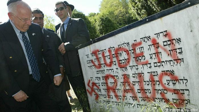 Jüdische Gräber im Elsass geschändet